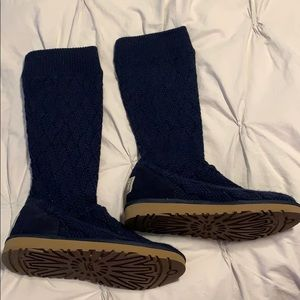 Ugg Navy Sweater Boots